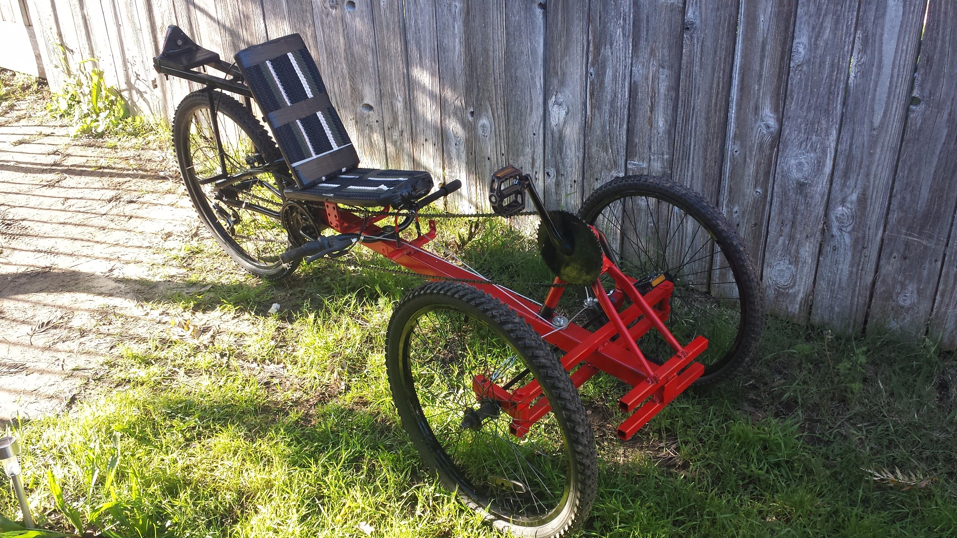 Picture of Recumbent Trike From Old Parts **Now Electric**