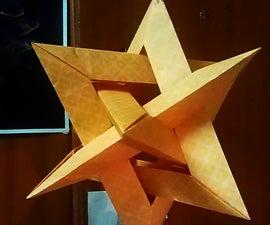Gasherbrum - 4 intersecting triangles - modular origami - no glue