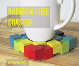 Rainbow Cube Coaster