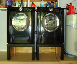Washing Machine and Dryer Pedestal / Stand: a DIY Happiness!