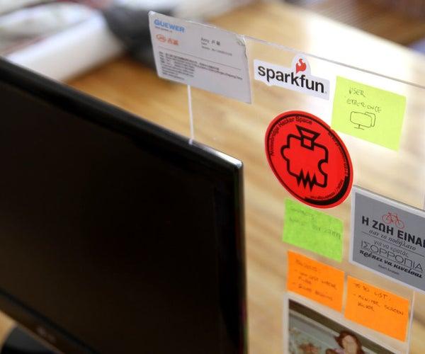 Transparent Monitor Noticeboard