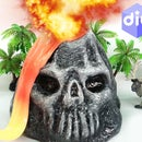 DIY HOW TO MAKE SKULL MOUNTAIN SLIME