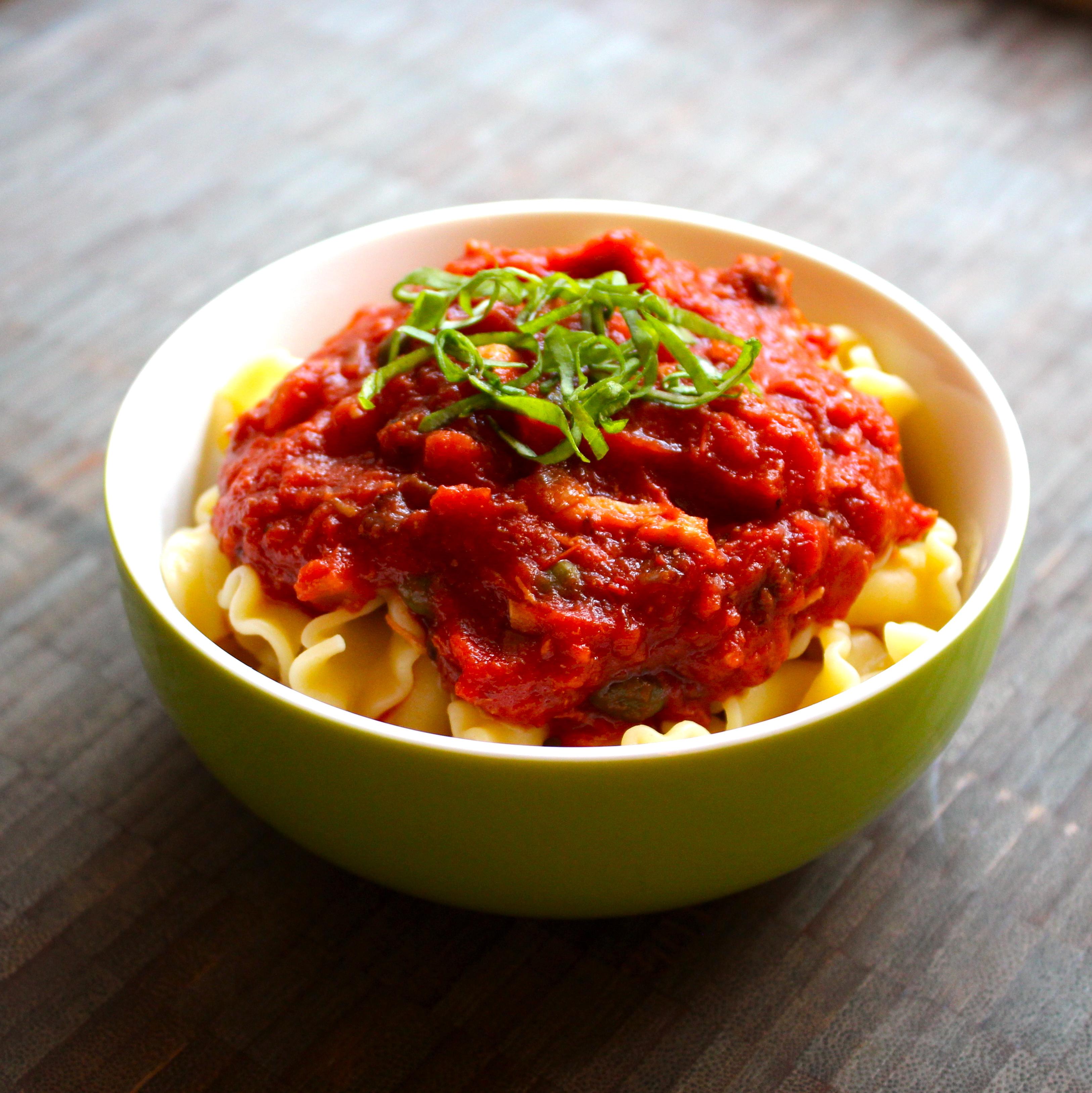 Picture of Olive and Caper Tomato Sauce