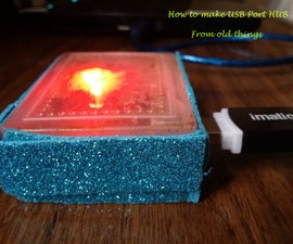 How to Make a Nice USB 3-Port Hub From Old Plastic Box