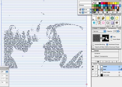 Alter Opacity of Masked Text to Create Light-Text Layer
