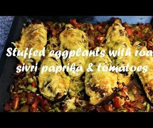 Stuffed Eggplants With Roast Sivri Paprika & Tomatoes Recipe