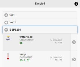 ESP8266 WiFI water leak sensor