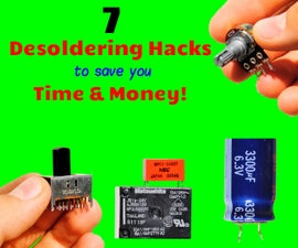 How to Desolder Electronic Components From Circuit Boards - 7 Tips & Tricks   Free Parts for Projects!