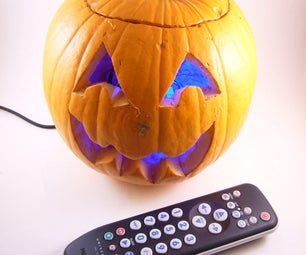 Remote Control Color Changing Pumpkin