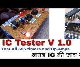 IC Tester ,Op-Amp,555 Timer Tester