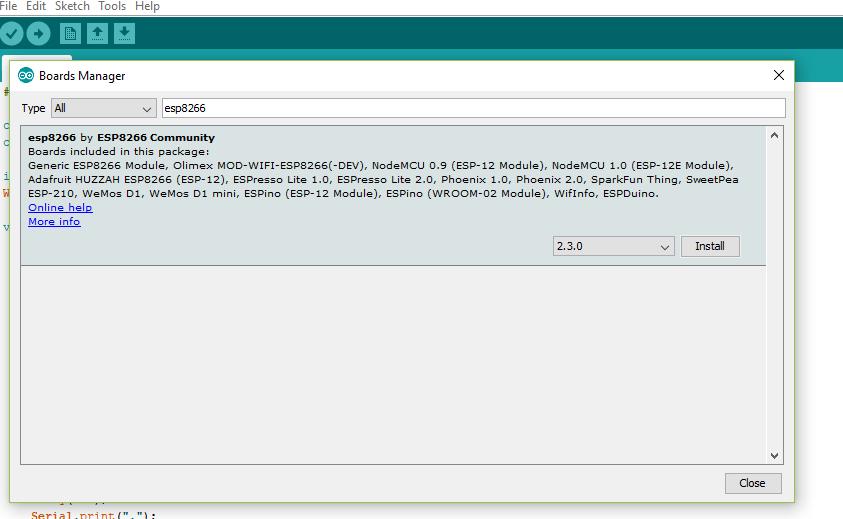 Picture of Installing NodeMCU Board Package