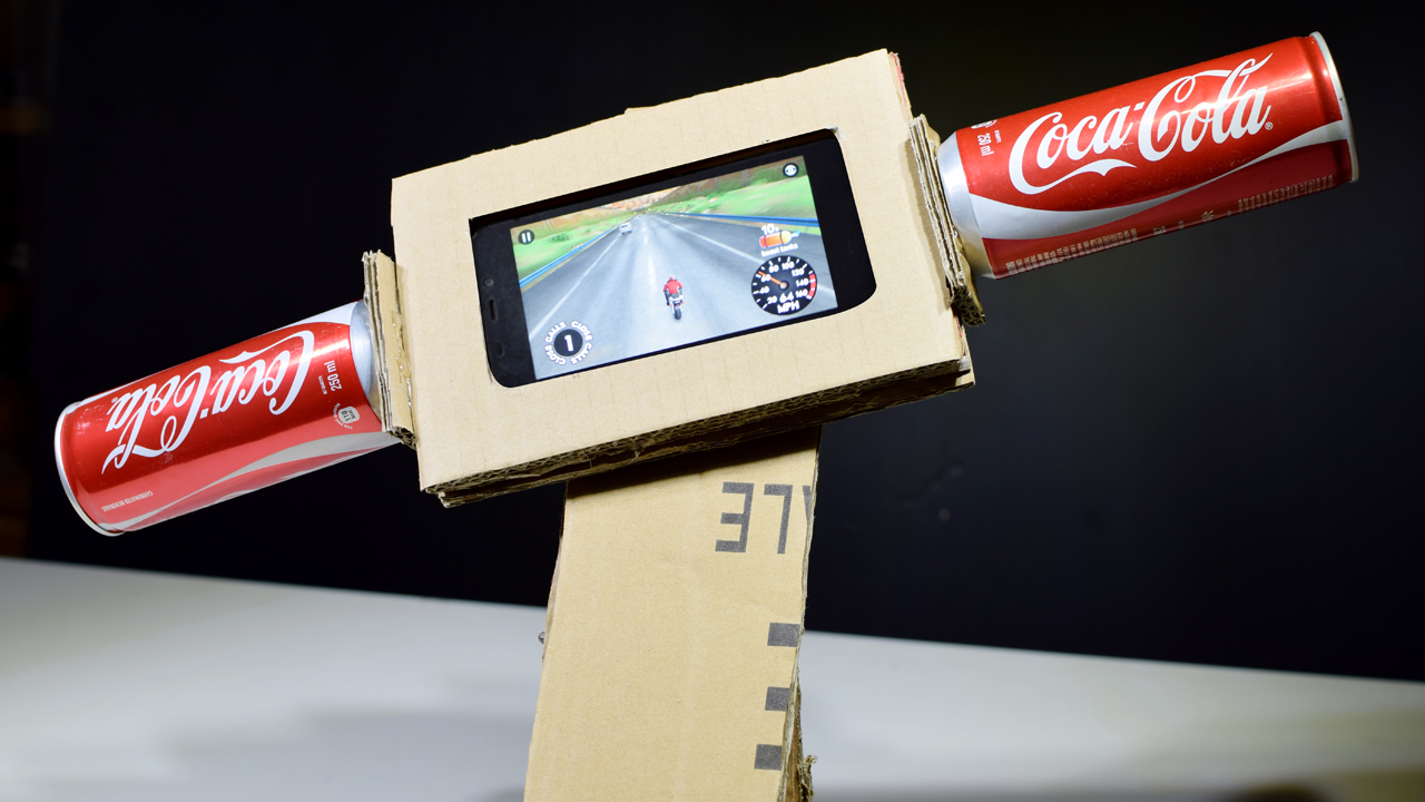 Picture of How to Make a Gaming Steering Motorcycle From Cardboard for Smartphone