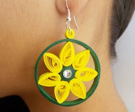 Easy DIY Jewellery : How to Make Beautiful Paper Earrings at Home