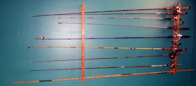 Simple Overhead Fishing Rod Rack