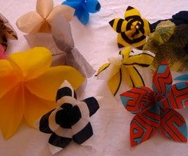 Wallflowers (Plastic bag hanging flowers)