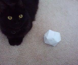 Treat-dispensing Origami Cat Toy
