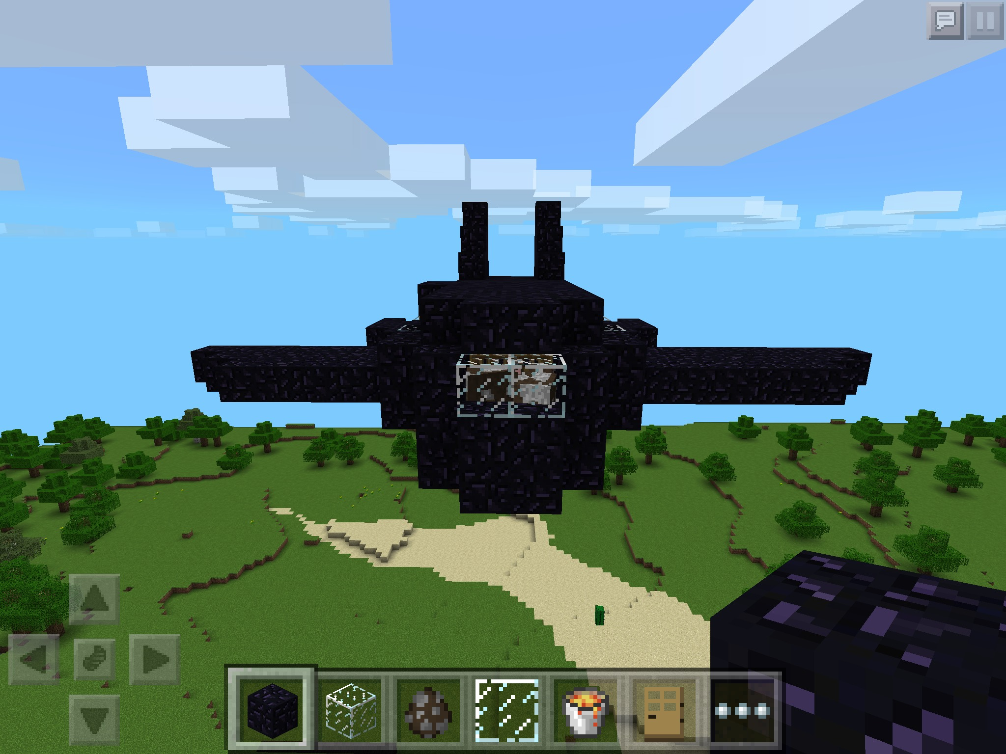Picture of Minecraft Airplane
