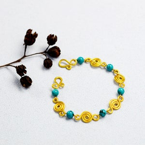 Beebeecraft Wire Wrapped Design--How to Make Bracelet With Beads and Wire