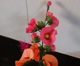 Fabric Poppy Flowers