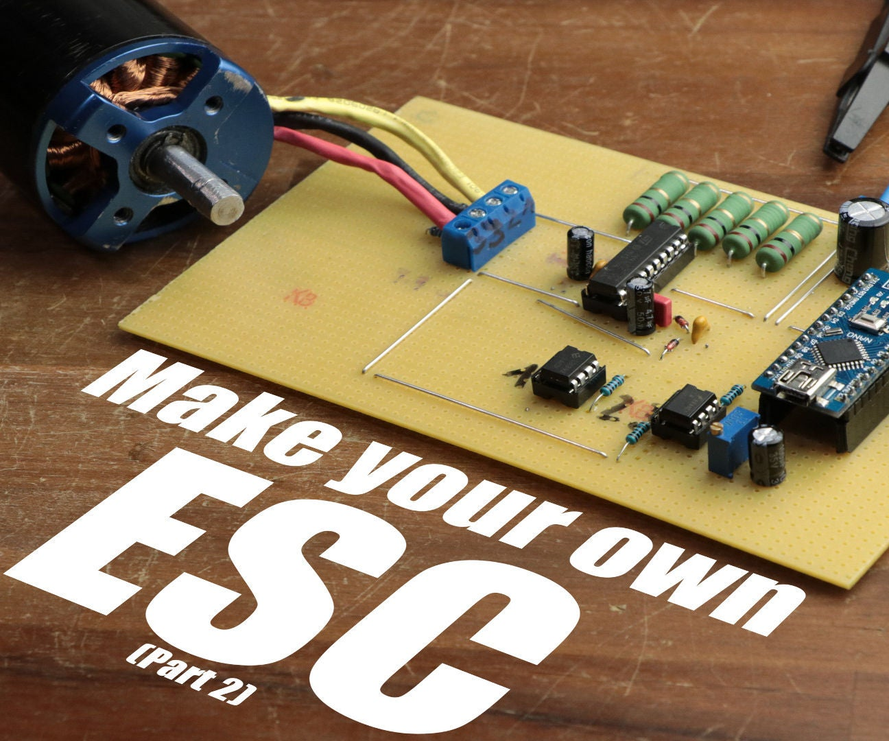 Make Your Own Esc 5 Steps With Pictures Circuit The Simulation Consist Of A Microcontroller Chip Pic