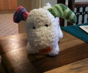 Knitted Snowdog!