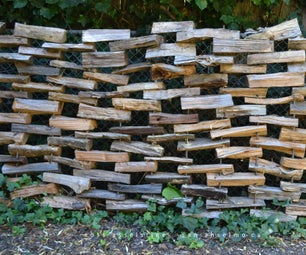 How to Build a Firewood Fence