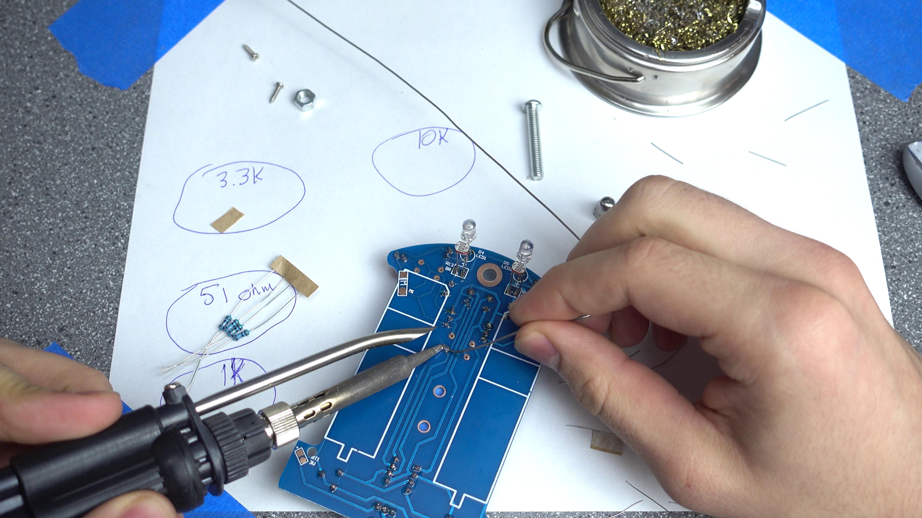 Picture of Soldering: Resistors