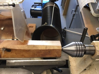 Marking the Centers, Tapping in the Spur Center and Mounting to the Lathe