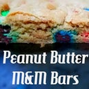 Heavenly Peanut Butter M&M Bars