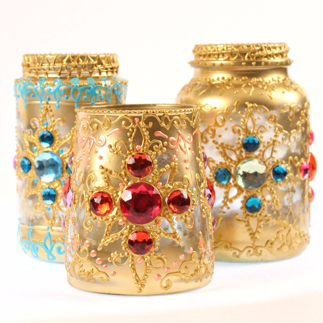 Picture of Bejeweled Jar Lanterns