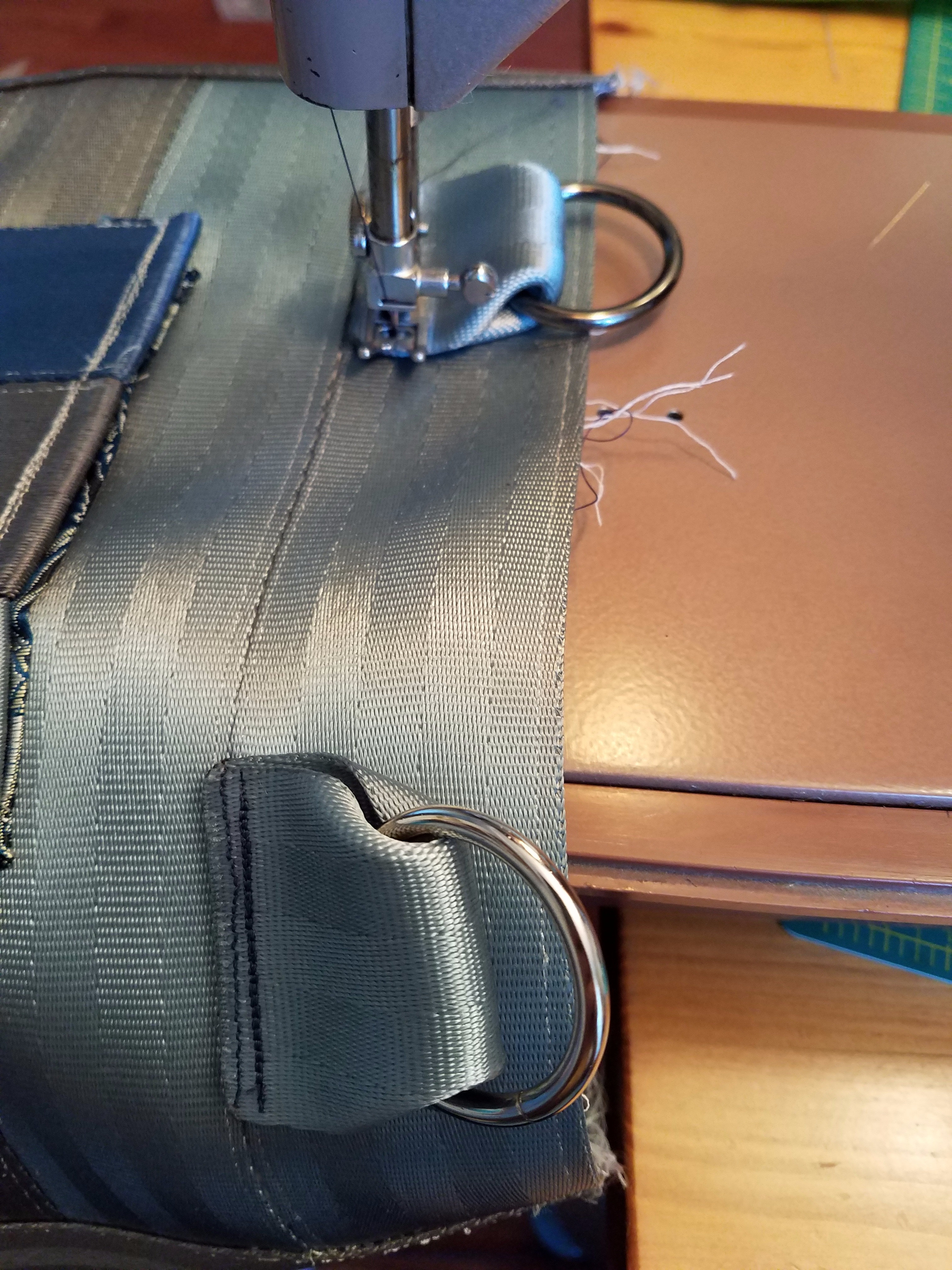 Picture of Attach Handle Fasteners to Outside of Bag