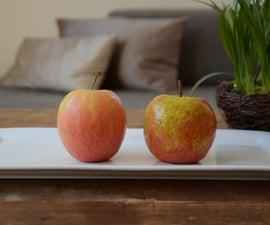 Paper Mache Fruits (apple and Mandarine)