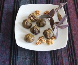 Baked Figs stuffed with Walnuts