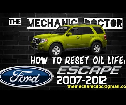 how to reset oil life ford escape 2007 2012 5 steps rh instructables com 2012 Ford Escape Manual 2003 ford escape xlt repair manual