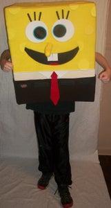 DIY SpongeBob Squarepants Mascot Halloween Costume