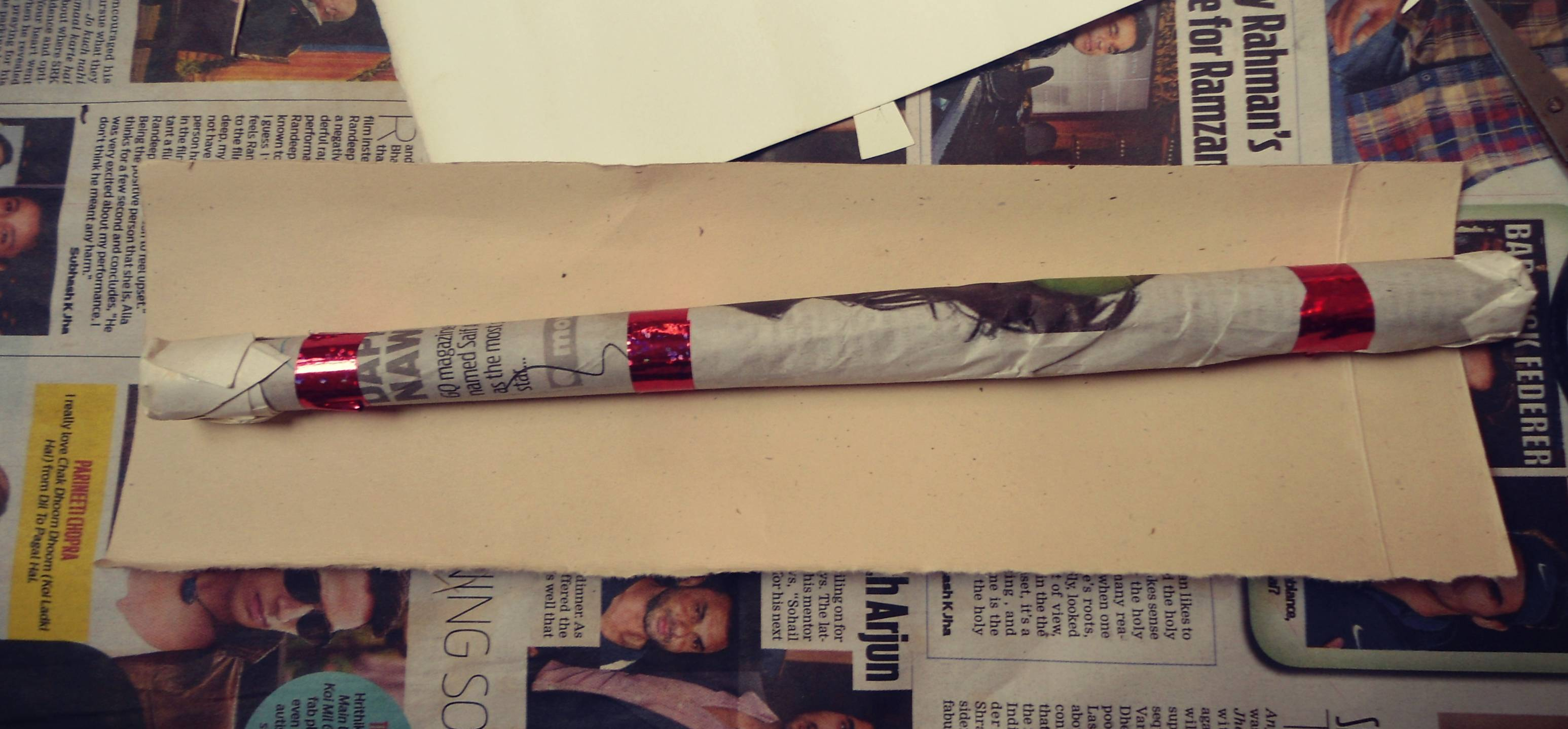 Picture of Cover the Paper Stick With Paper.