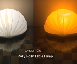 Rolly Polly Laser Cut Lamp