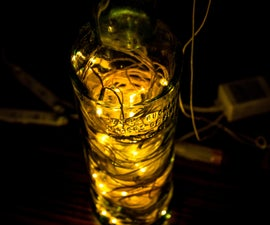 Recycled Wine Bottle Night Lamp