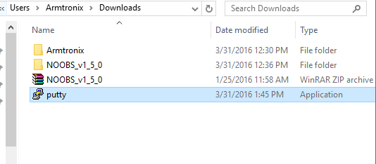 Picture of Installation of Putty on Computer or Laptop for SSH on Windows