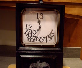 Spooky Backwards Spinning Clock Made from Cassette Player Motor
