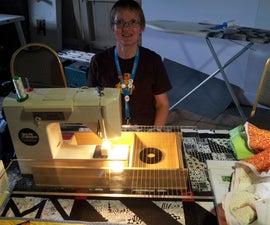 Quilter's sewing machine table.