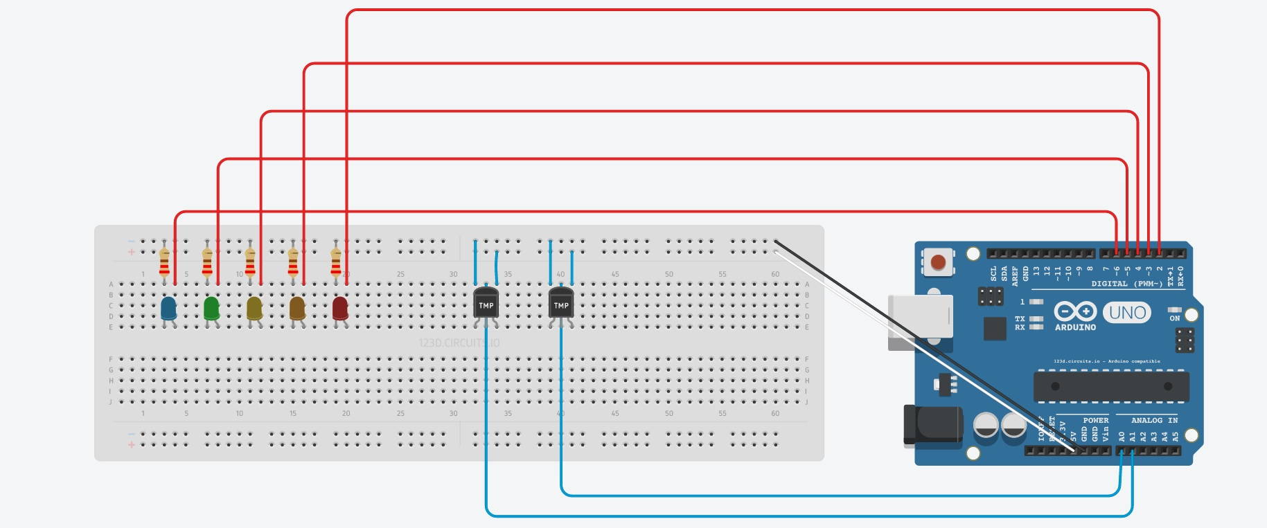 Picture of Setting Up the Circuit: Add Sensors