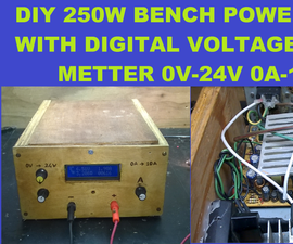 DIY 240W Bench Power Supply Tutorials 0V to 24V 0 to 10A