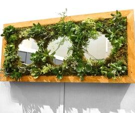 Vertical Garden Headboard Piece With Mirrors