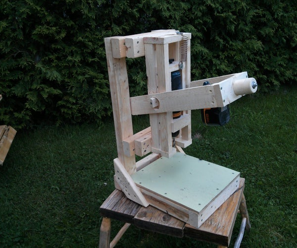 The Wooden Cordless Drill Press