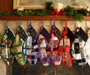 Woven Ribbon Christmas Stocking
