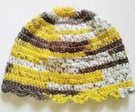Toddler Shell Stitch Border Cap