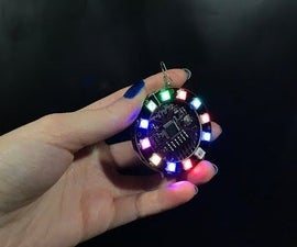 Arduino Lilypad Controlled NeoPixel Earrings