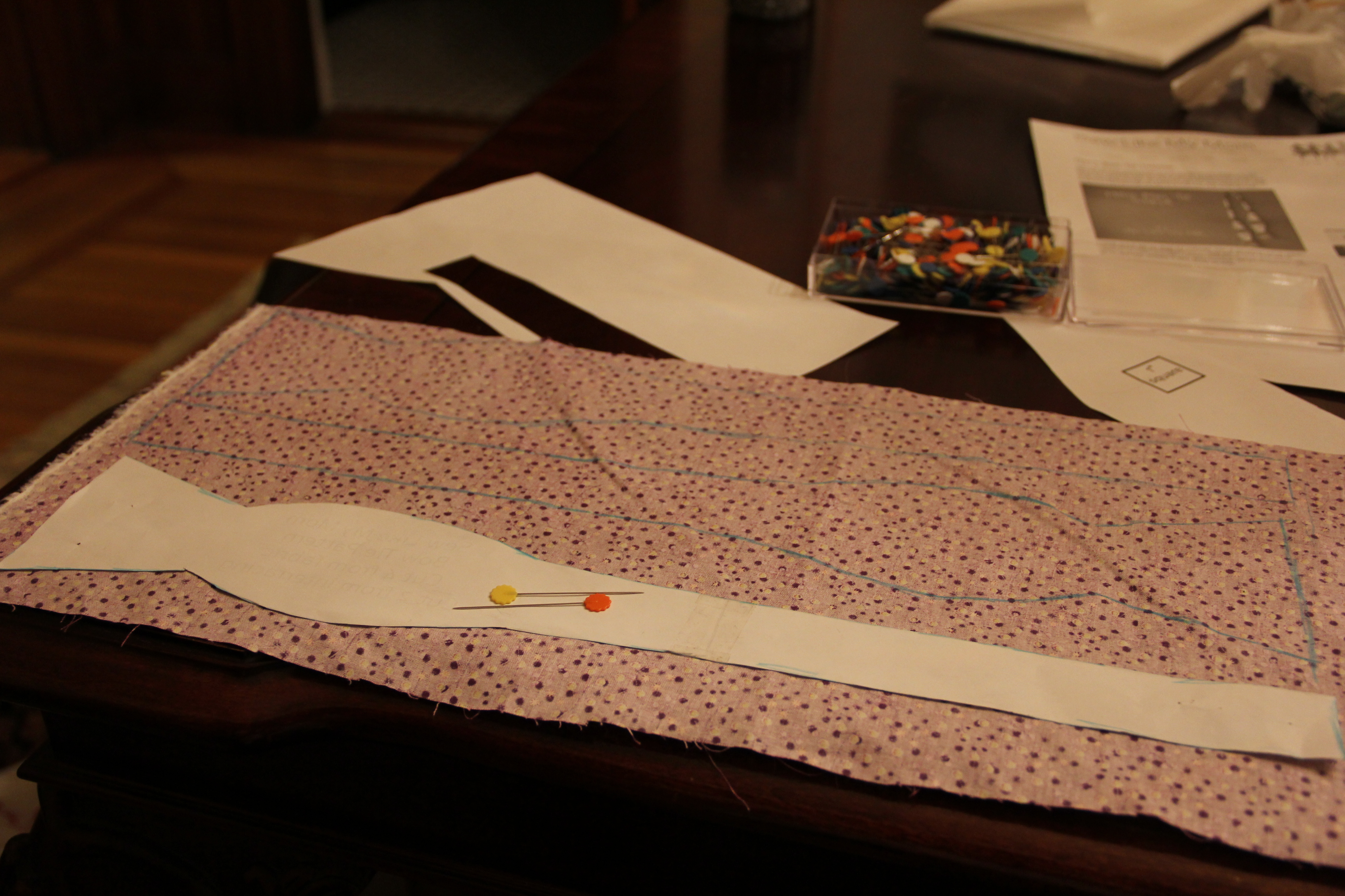 Picture of Cut Materials [Cloth and Interfacing]