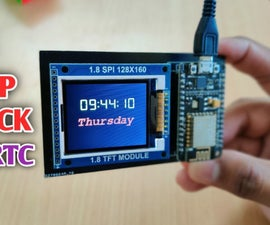 ESP8266 Network Clock Without Any RTC   Nodemcu NTP Clock No RTC   INTERNET CLOCK PROJECT